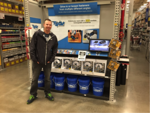 joel in front of screwdriver display at lowes