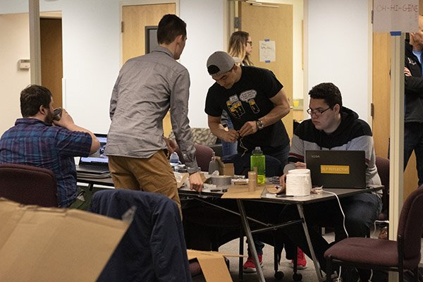 entrepreneurs engage in an exercise at the nw innovation lab